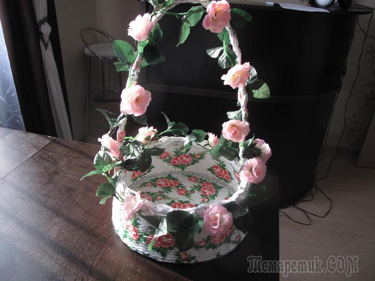 МК для милых дам — как сделать нарядную корзиночку к празднику!