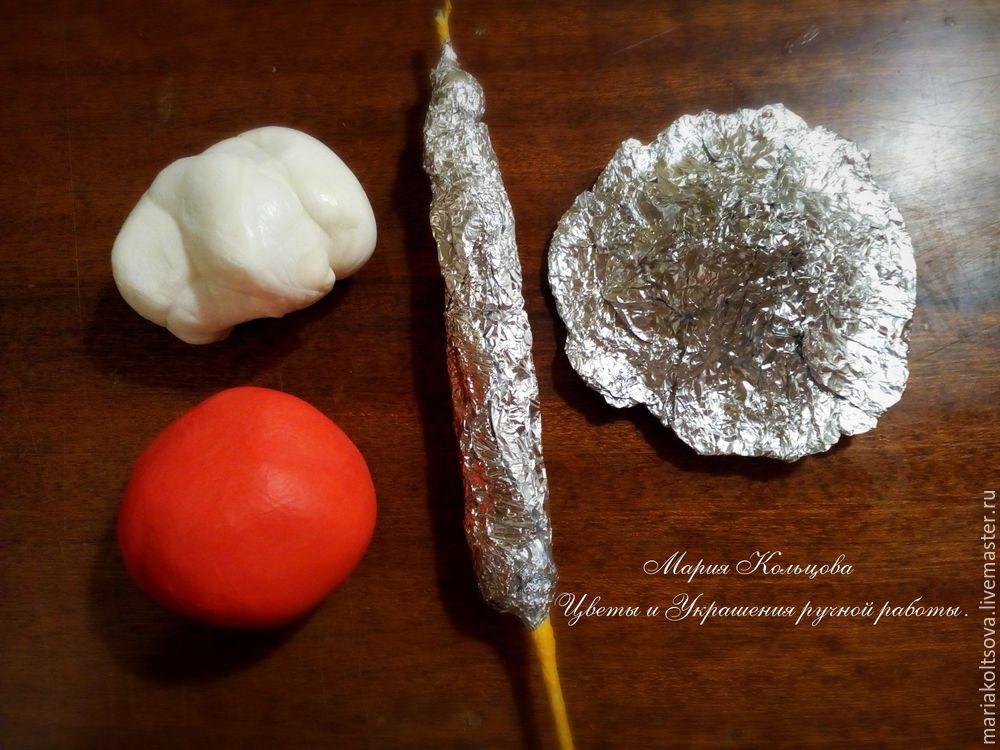 Мастер-класс по лепке мухомора из полимерной глины глину, помощью, делаем, можно, чтобы, белую, гриба, нужно, немного, подсохнуть, только, шляпку, пластинки, нарисовать, клеем, шляпка, красную, после, красками, фольгу