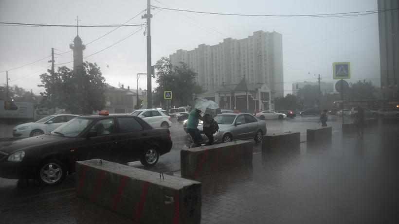 МЧС объявило экстренное предупреждение из‑за грозы и сильного ветра в Москве