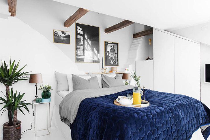 Шведская квартира с нотками американского стиля (41 кв. м)