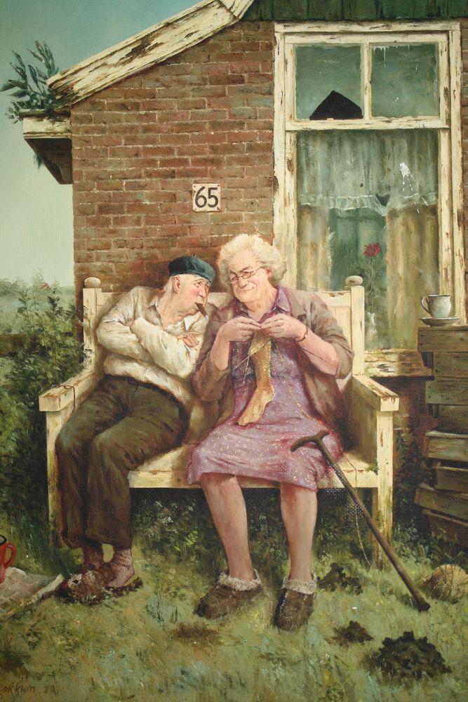 Когда старость в радость: оптимистичные работы голландского художника Marius van Dokkum, фото № 2