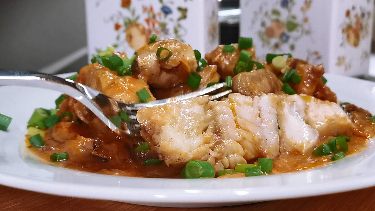 Как приготовить из минтая без предварительной обжарки вкусное рыбное блюдо в густом соусе рыбные блюда