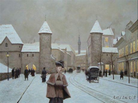 Пейзажи старинных городов в картинах Вадима Войтеховича.