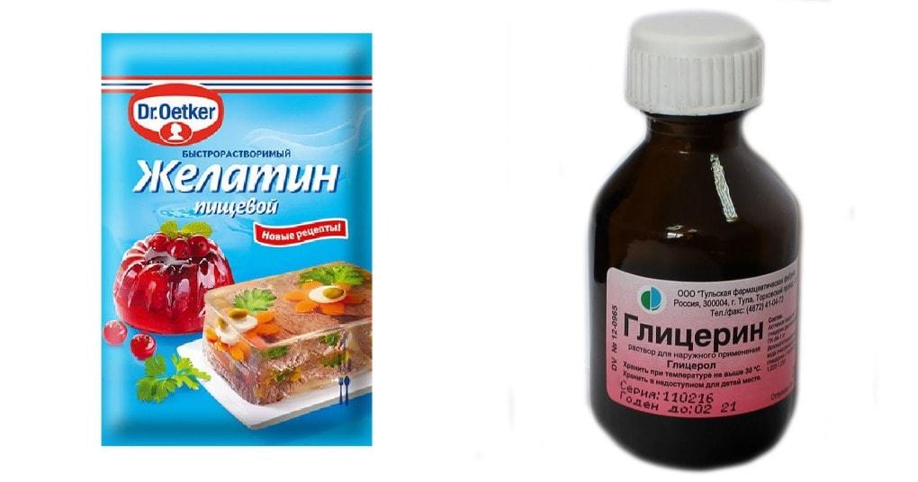 Желатин и глицерин помогут с…