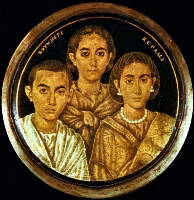 Поздний Рим: Валентиниан III, Юста Грата Гонория и их мать Галла Плацидия. Поразительно живые лица 1,5-тысячелетней давности история, люди, мир, фото