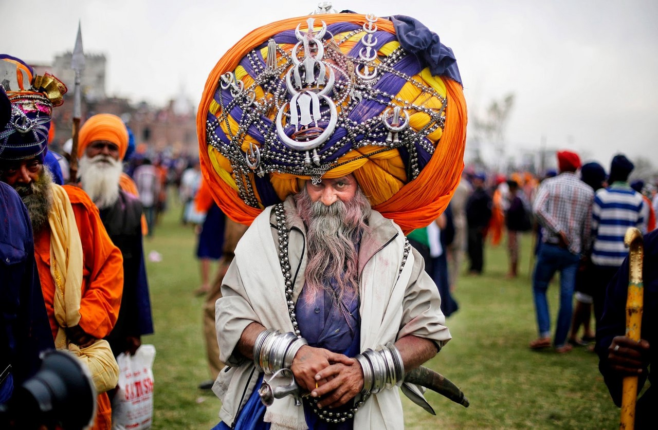 Как живет индус с тюрбаном на голове в 45 килограммов Автар Сингх