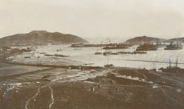 Панорама Порт-Артура. Квантунская область. Российская империя. 1898-1899 годы. история, люди, мир, фото