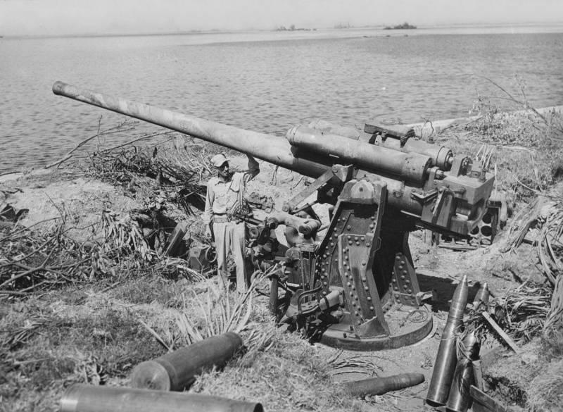 Японская зенитная артиллерия в противотанковой обороне