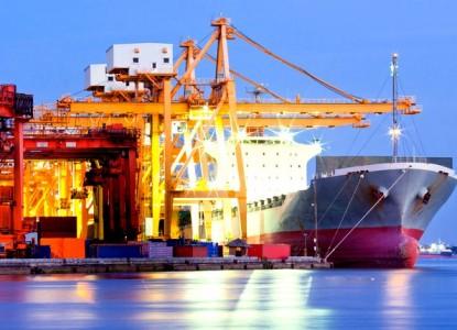 порт корабль