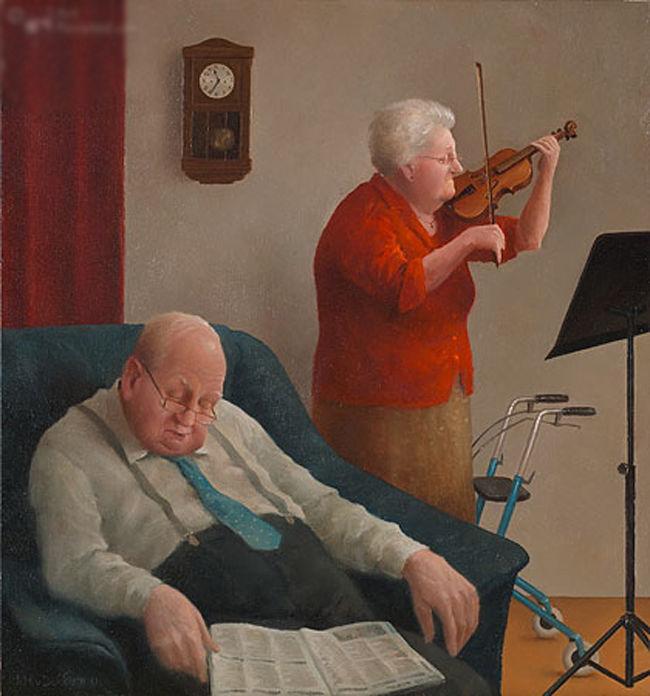 Когда старость в радость: оптимистичные работы голландского художника Marius van Dokkum, фото № 7
