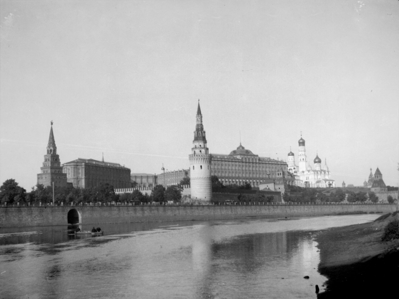 Вид на Кремль и Москву-реку история, ретро, фото
