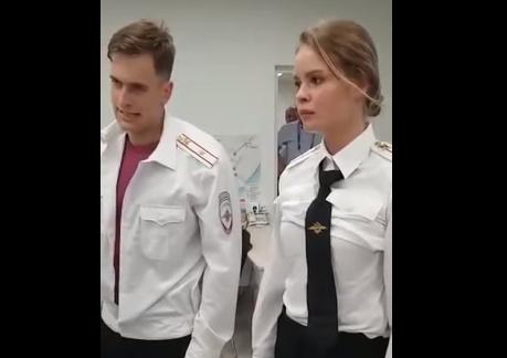 Pussy Riot в полицейском участке во время матча Франция - Хорватия