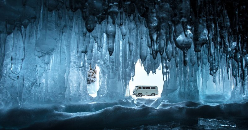 Зима на Байкале: ледяная симфония Зимняя сказка, байкал, зима, красота, лед, снег, фото, фоторепортаж