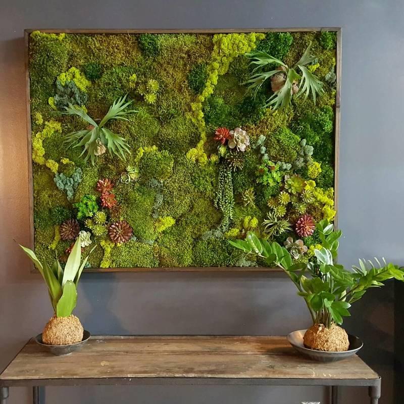 Стабилизированный мох в интерьере: вертикальное озеленение и фитомодули