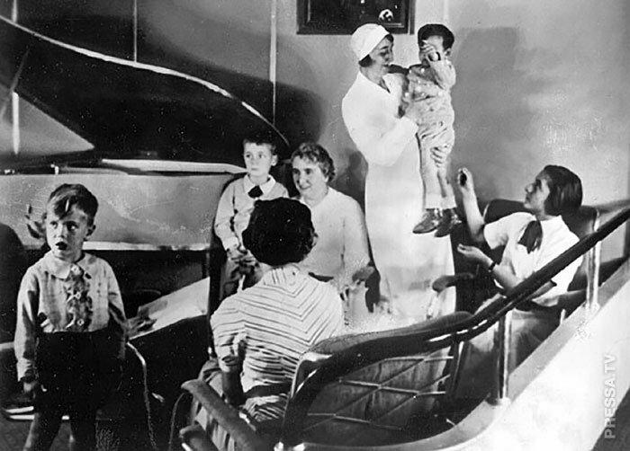 """Редкие исторические фотографии: интерьеры дирижабля """"Гинденбург"""" перед катастрофой Гинденбург, история, фото"""