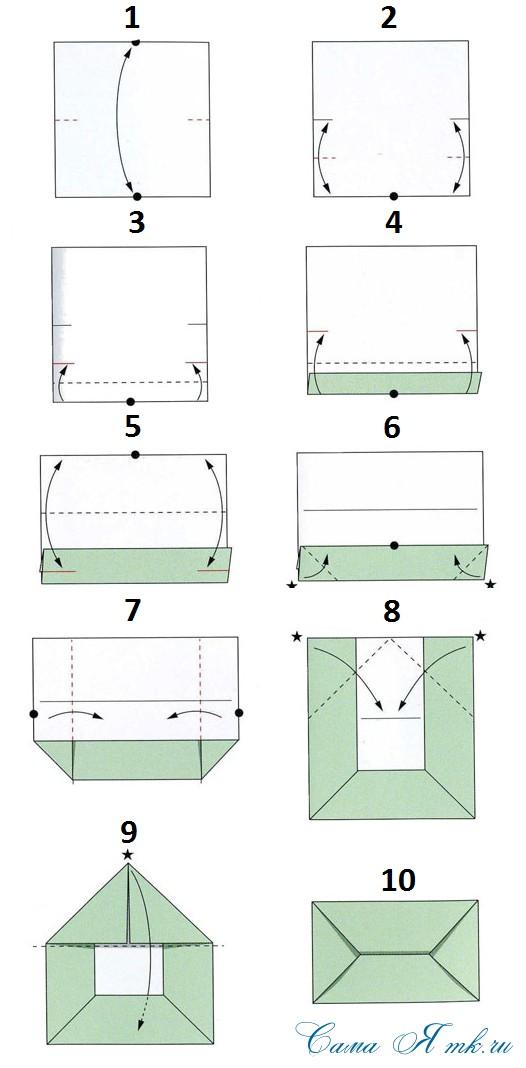 Как делать открытки из бумаги а4