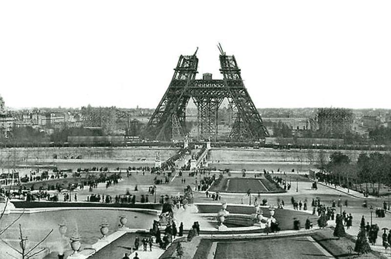 Строительство Эйфелевой башни в 1880 году Весь Мир в объективе, ретро, старые фото
