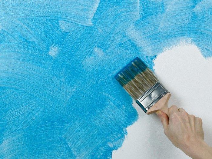 Способ №9. Беспорядочное нанесение клеевой краски