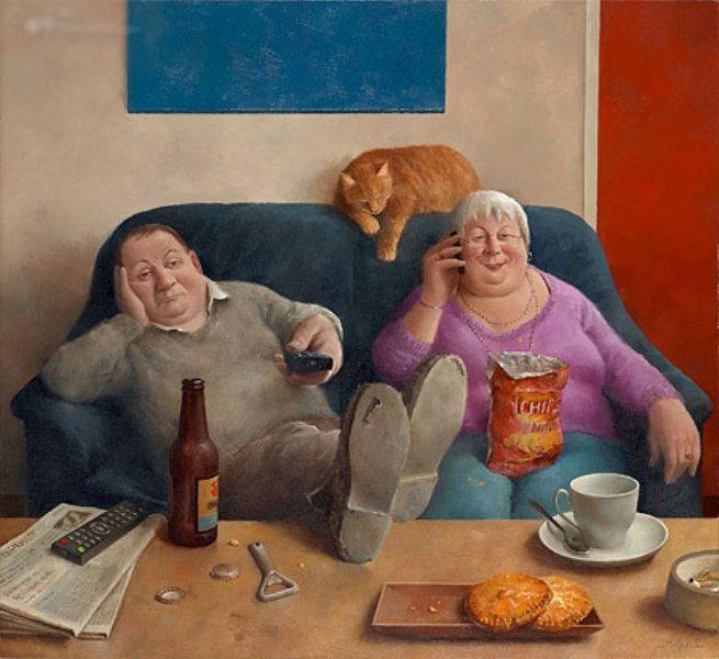Когда старость в радость: оптимистичные работы голландского художника Marius van Dokkum, фото № 10