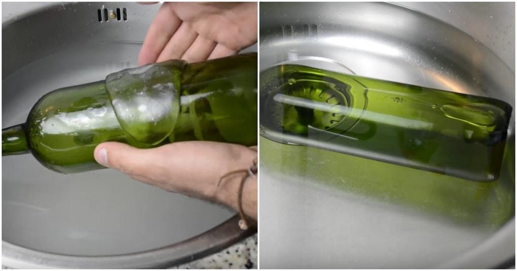 Необычный способ декорирования бутылки для стильного интерьера