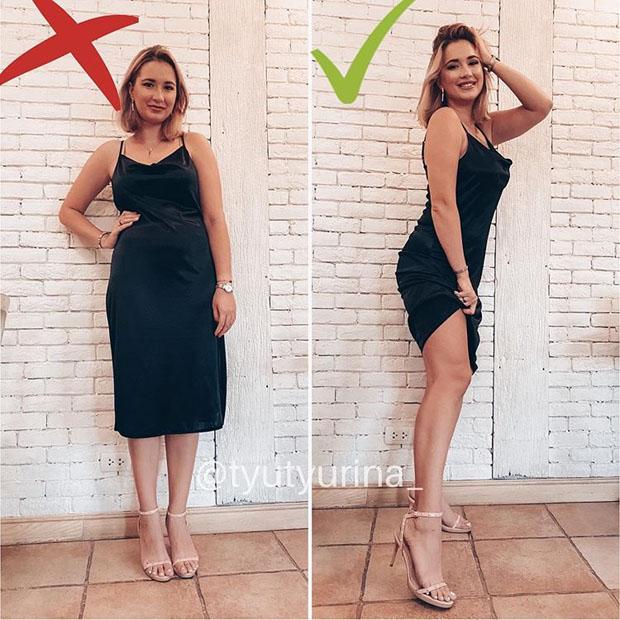 Пышкапозинг: девушка учит как обманывать на фото и делать фигуру идеальной — До и После красота,мода и красота,модные советы,фигура,фотография