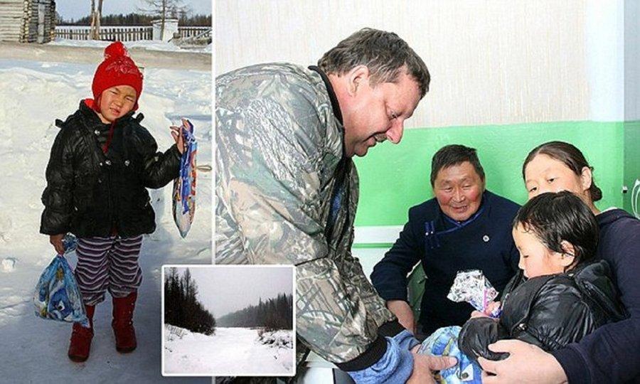 4-летняя девочка привела помощь через морозную тайгу