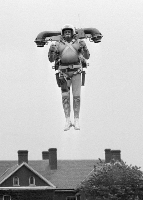 Robert Courter и его летающий рюкзак в 1969 году. история, люди, мир, фото