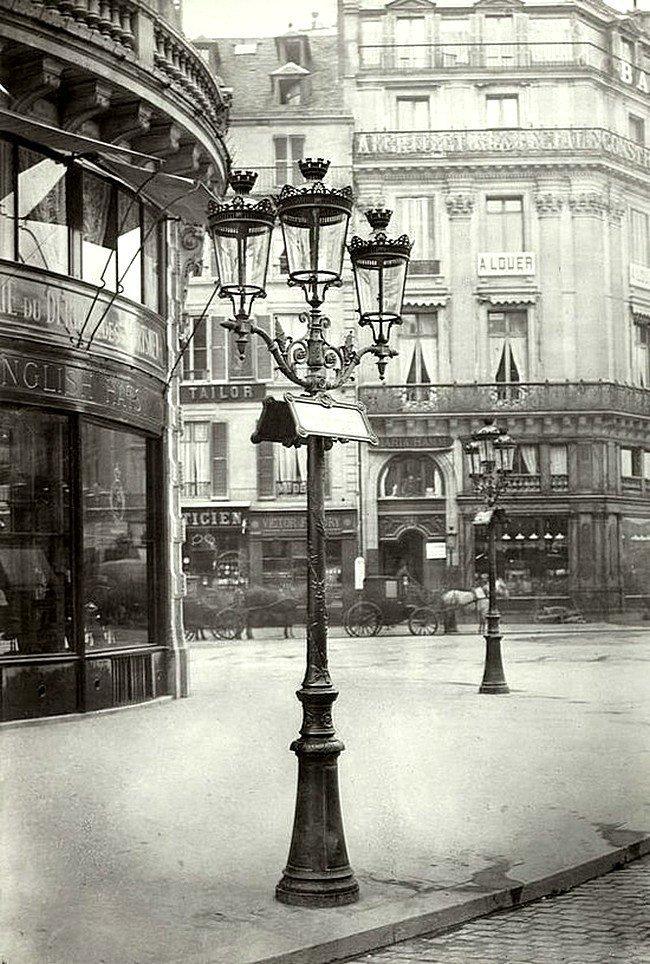 Фонари Парижа около 1878 года. Весь Мир в объективе, ретро, старые фото