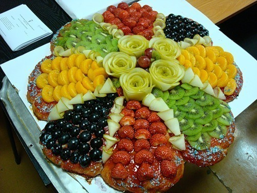 Торт с фруктами.