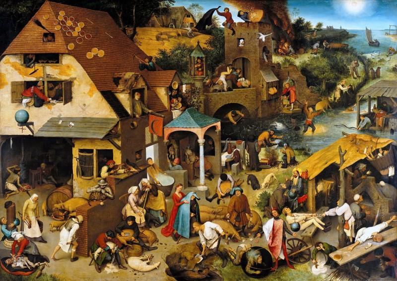 «Фламандские пословицы» Питера Брейгеля: 127 пословиц  в одной картине живописца