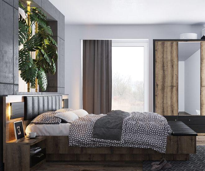 дизайн большой спальни модуль
