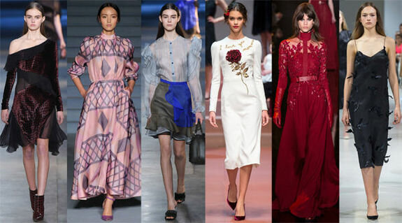 Christopher Kane, Emilia Wickstead, Christopher Kane, Dolce&Gabbana, Elie Saab, Nina Ricci