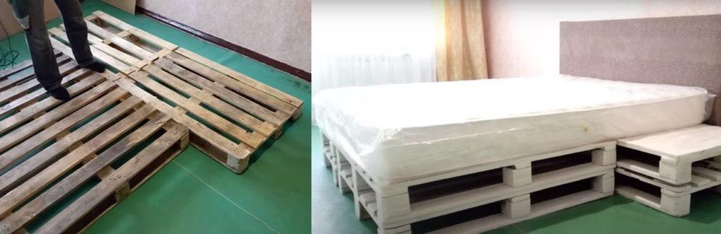 Кровать из поддонов своими руками: недорого, но очень стильно для дома и дачи,интерьер