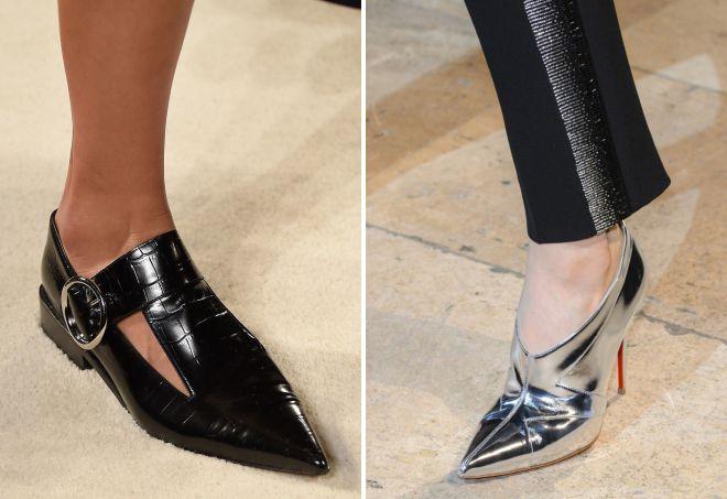 какие туфли в моде весной 2018