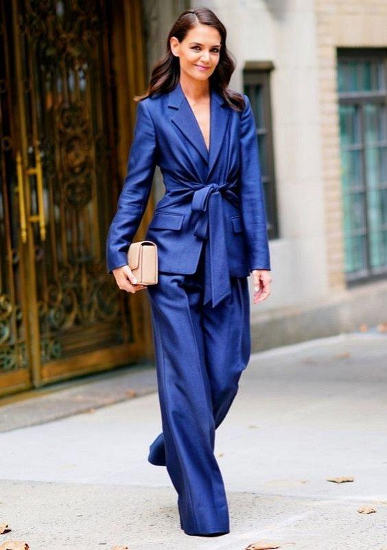 Как носить синий - самый модный цвет 2020 года фото №10