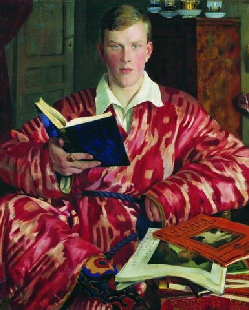 Портрет К.Б.Кустодиева. (1922). Автор: Б.М.Кустодиев.