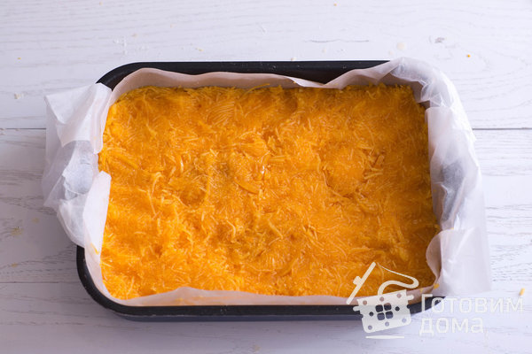 Насыпной пирог с тыквой фото к рецепту 9