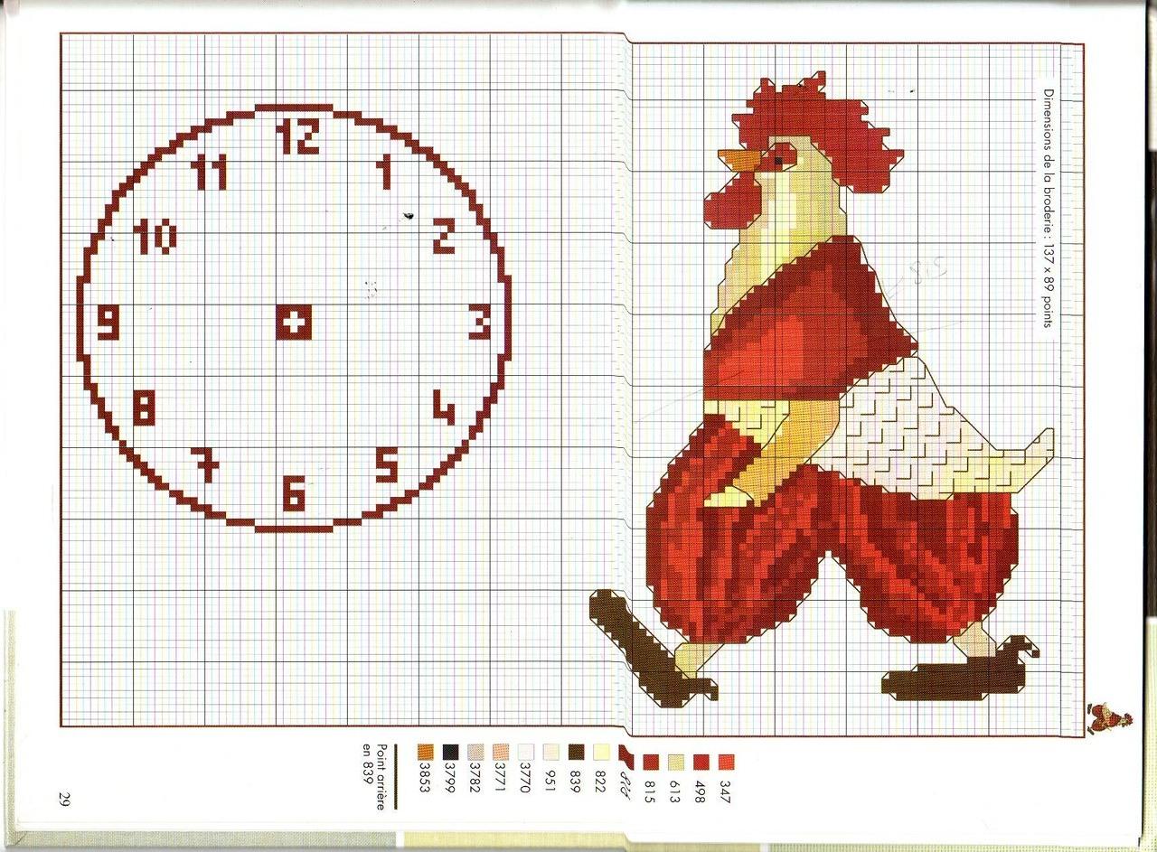 Схема для вышивания петух фото 970