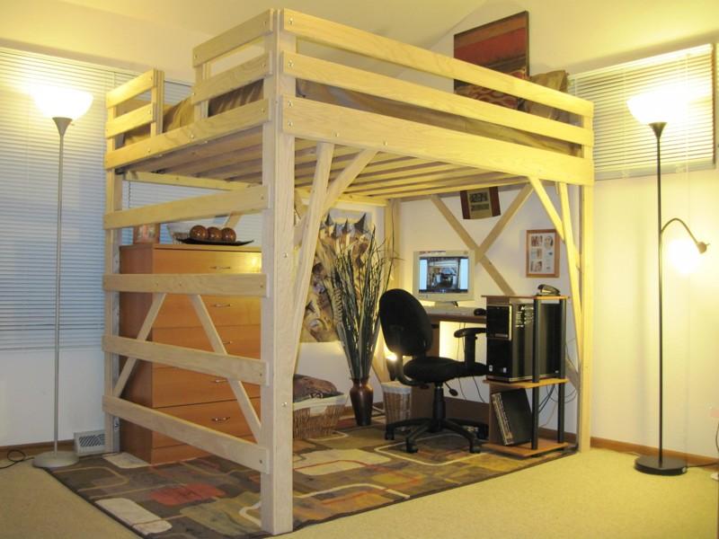 А при желании и умении это всё можно сделать и самому, как видите, здесь нет ничего сложного двухъярусная кровать, дизайн, идеи, маленькая квартира