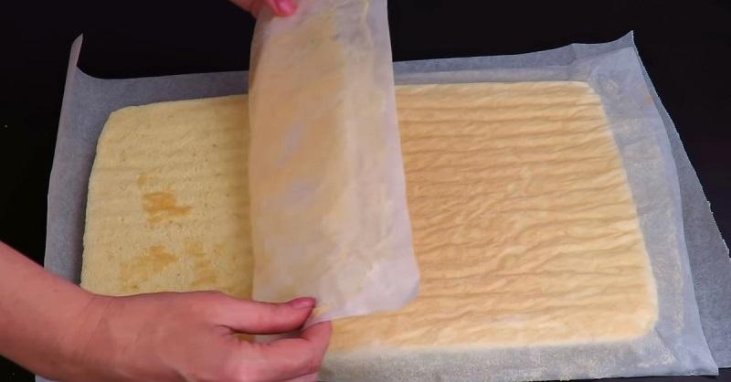 как приготовить бисквитный рулет