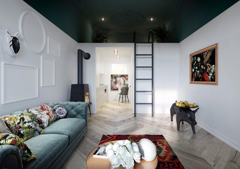 Гостиная в цветах: Светло-серый, Бежевый, Бордовый, Фиолетовый, Сиреневый. Гостиная в стиле: Минимализм.