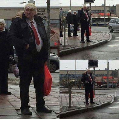 Очень популярный  в Латвии «Рижский Трамп» оказался водителем автобуса на пенсии