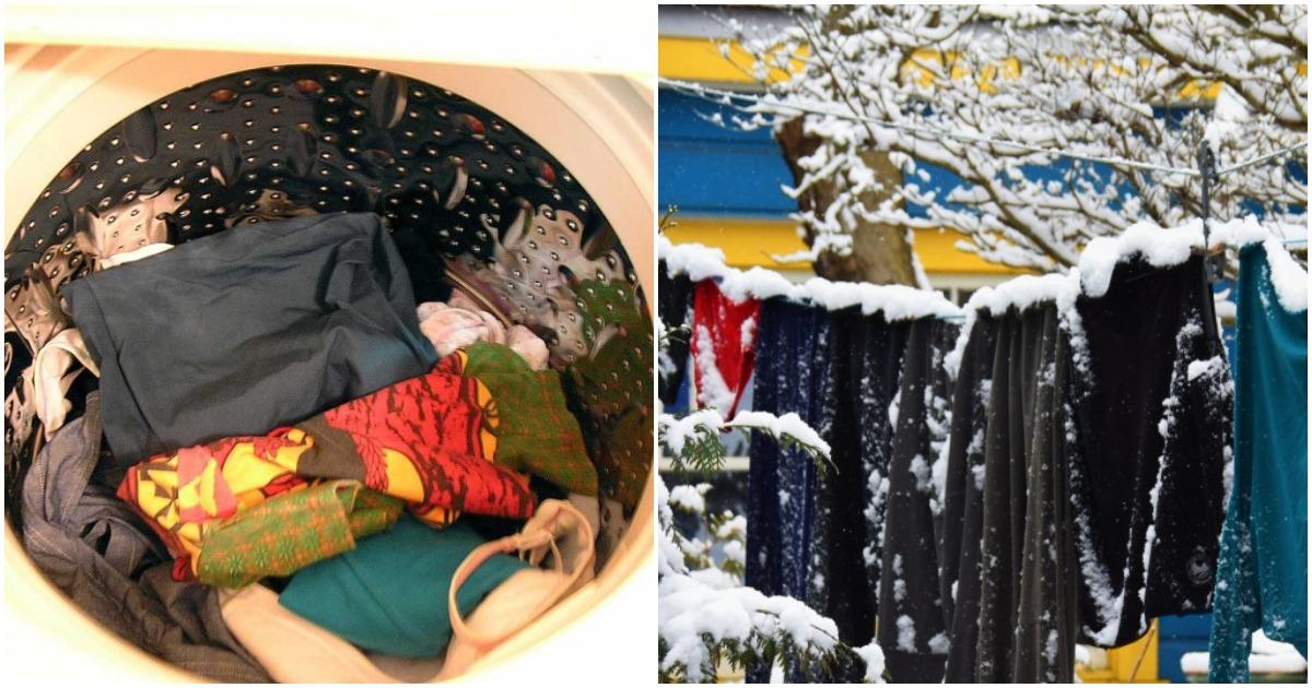 Эти правила зимней стирки и сушки белья уберегут ваш дом от плесени