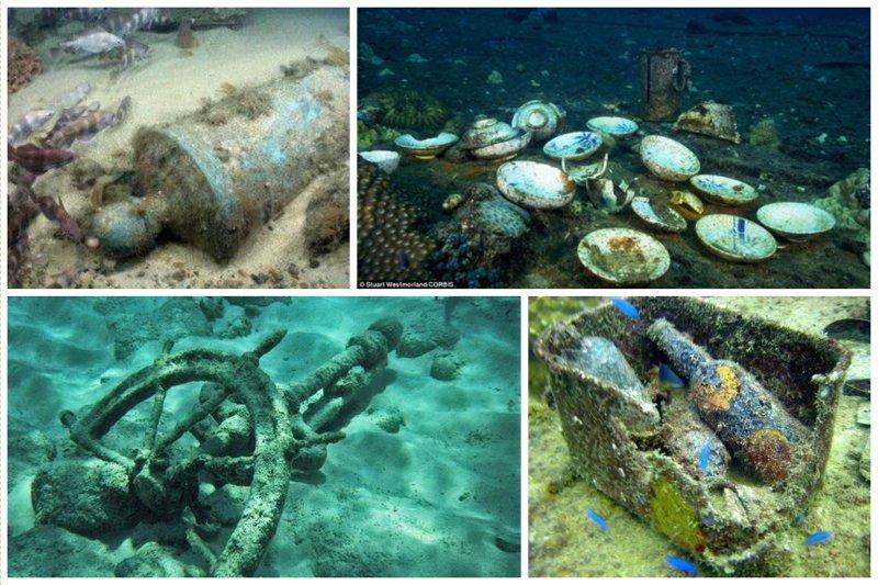 И прочие богатства жизнь, затонувшие, под водой, страшно, техника, удивительно