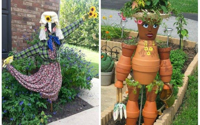 Страшная красота: огородное пугало на даче