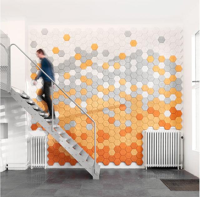 Мозаичная стена из шестиугольной клинкерной плитки своими руками