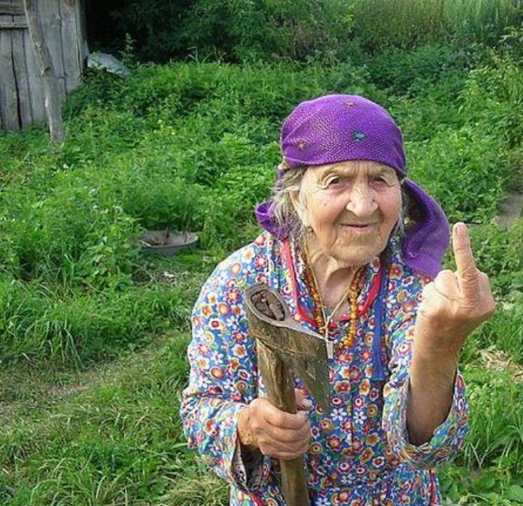 старушка тупо дает - 9