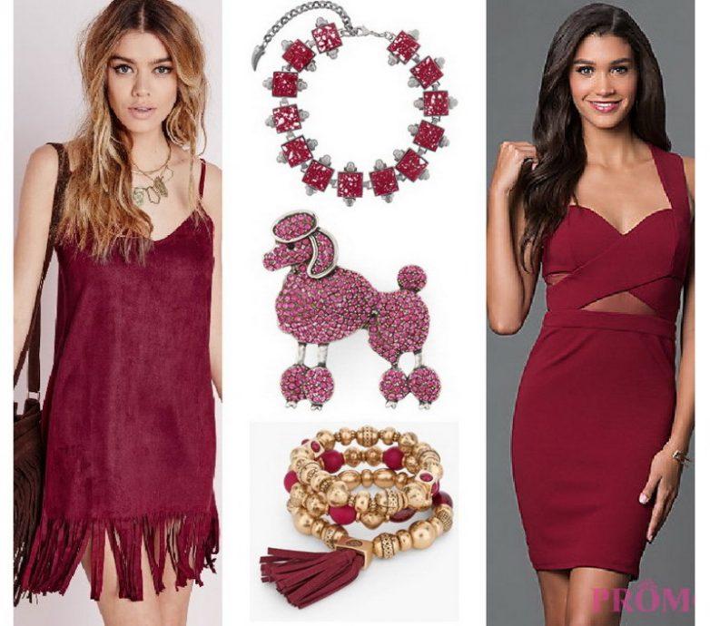 Поклонницам красных оттенков — стильные платья цвета марсала
