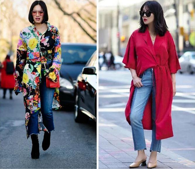 Все лучшее сразу: как носить платье сджинсами