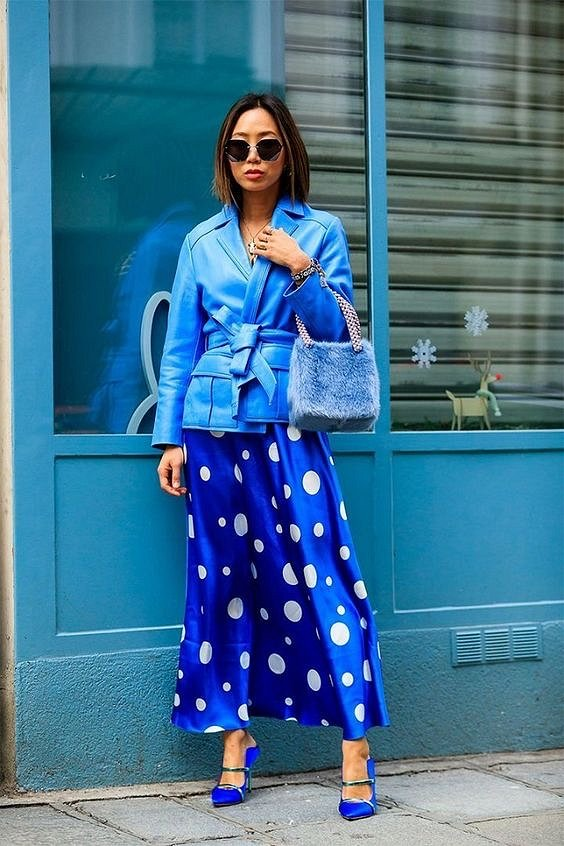Как носить синий - самый модный цвет 2020 года фото №15